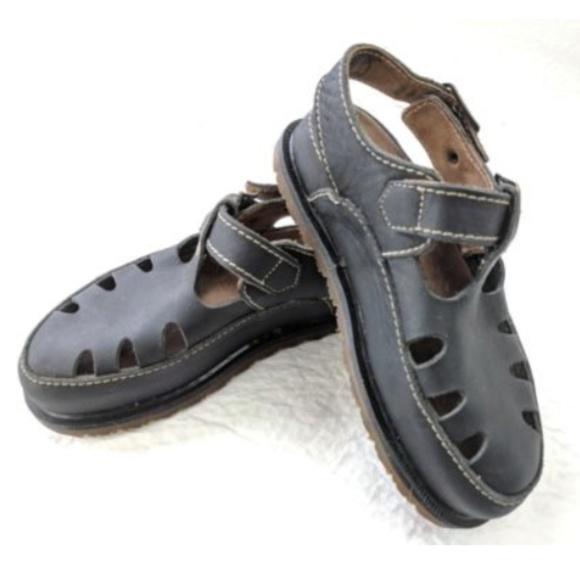 5689b02dbe2e Dr. Martens Shoes - DR. MARTENS Fisherman Black Leather Sandals